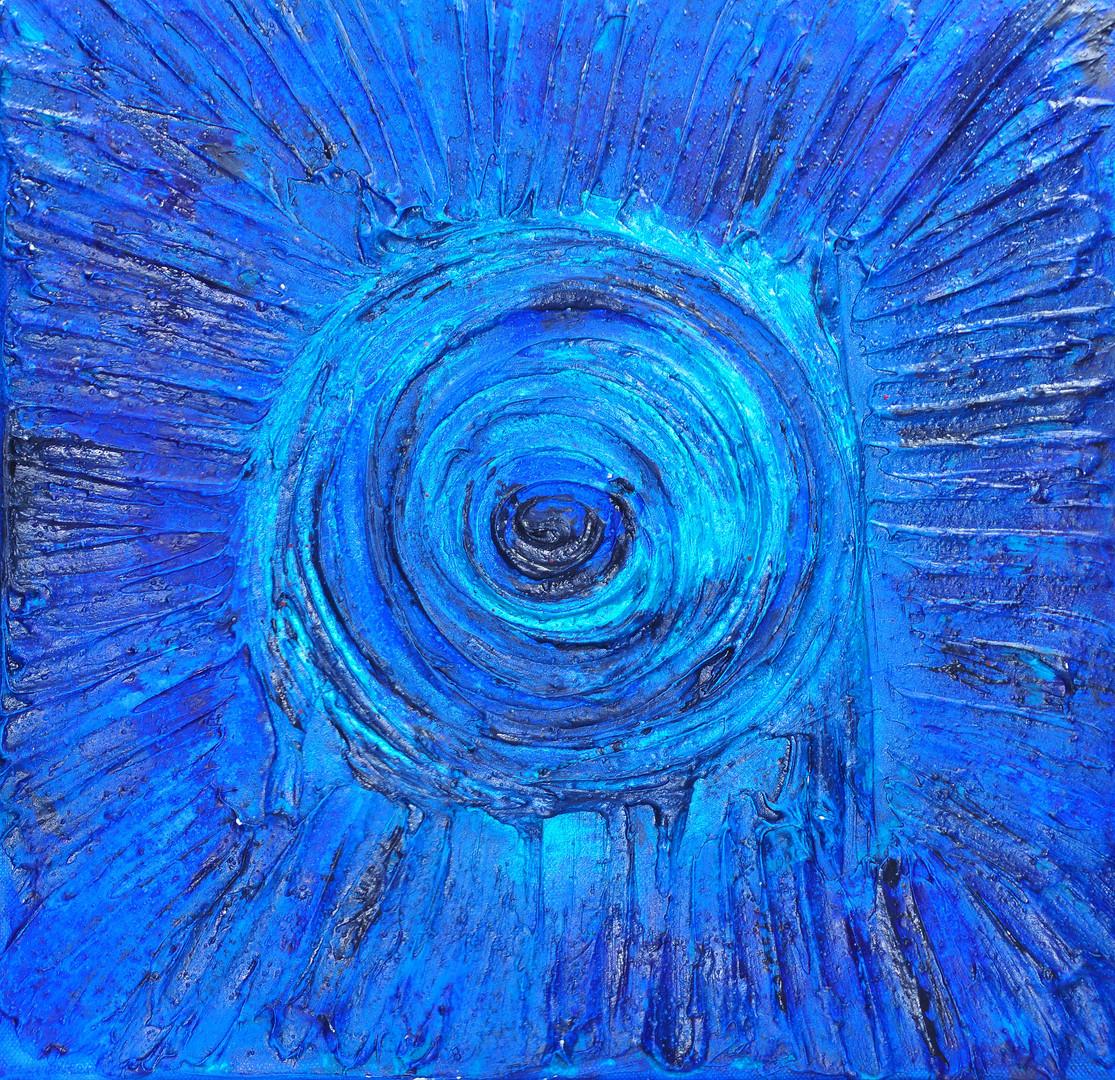 Kleines blaues Mandala