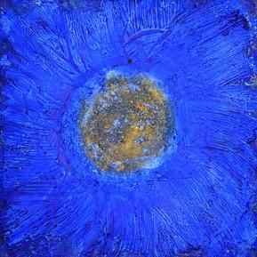 Blau-goldenes Mandala