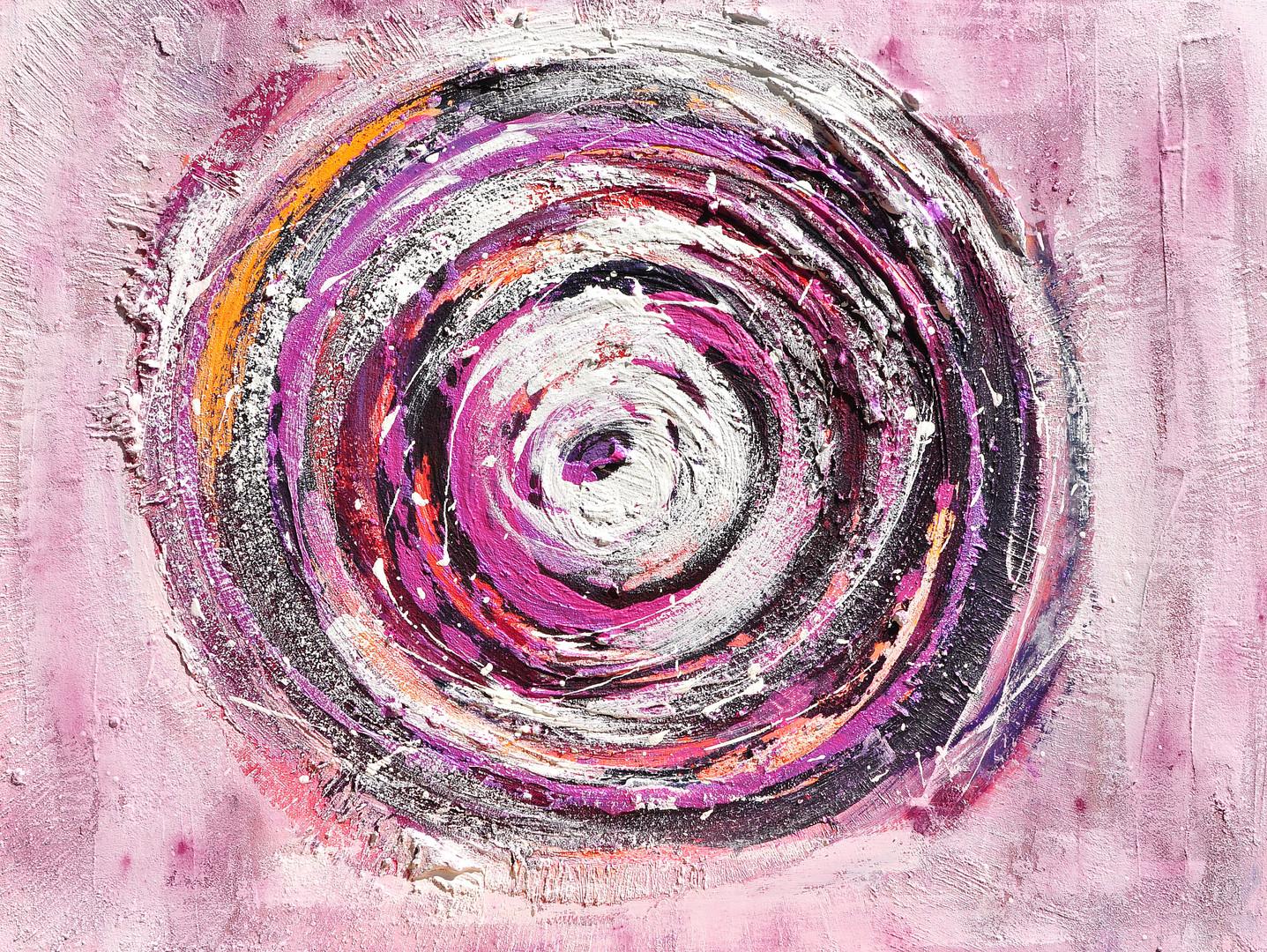 Mandala in weiß und violett