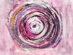 Mandala in violett und weiß