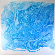 Alles Fließt Acryl auf Leinwand 50x50cm