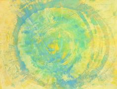 Mandala gelb blau