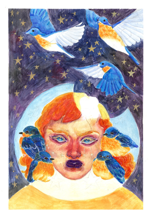 """Bluebird Take-Off"" by Pamela Cardenas"
