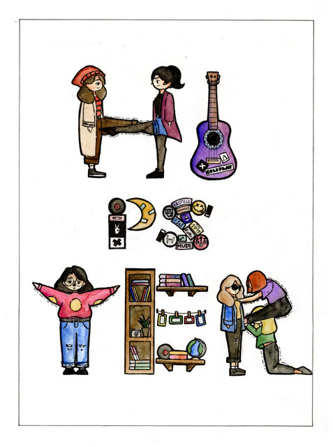 """Letras y Figuras: Hipster"" by Keith Samantha Monico"