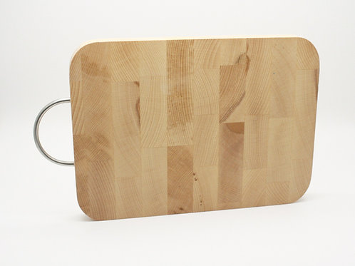 End Grain Chopping Board With Handle