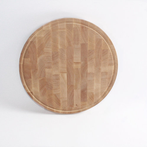 End Grain Round Board With Groove