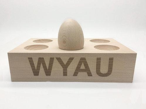 Egg Holder, with engraved wording !