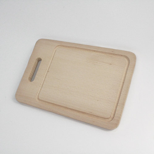 Rectangular Board With Groove And Handle