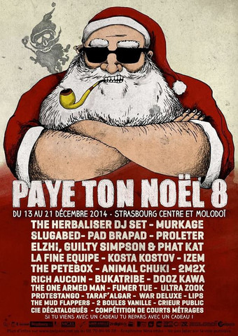 Affiche réalisée pour le Festival Paye Ton Noël