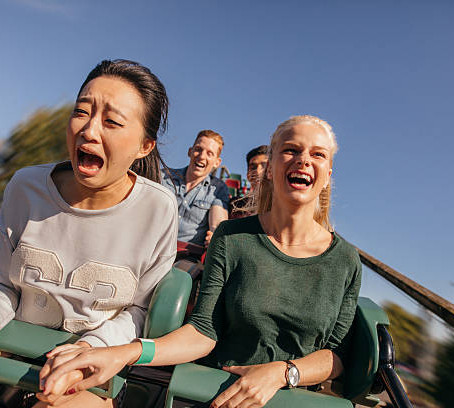 """""""Life is a rollercoaster, just gotta ride it"""""""