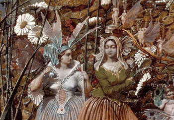 Detail of painting by Richard Dadd