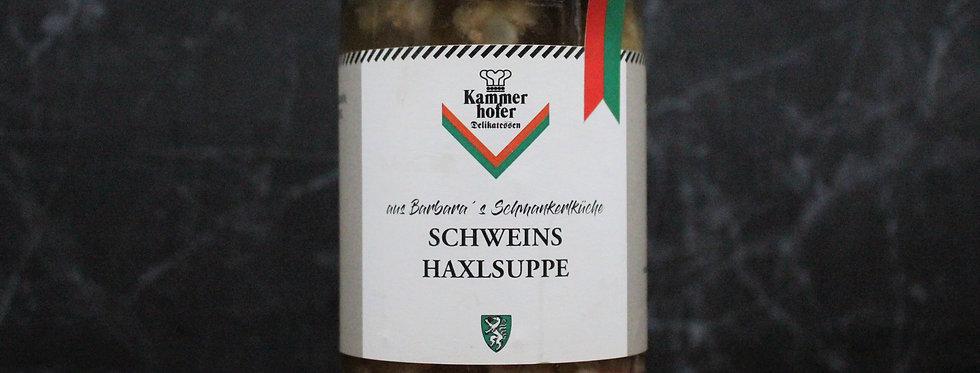Schweinshaxl Suppe