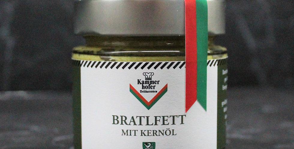 Bratlfett mit Kernöl