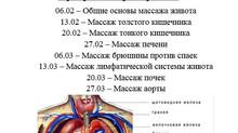 Программа тренировок по массажу внутренних органов на февраль: