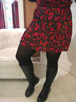 Jupe plissée fushia et noire
