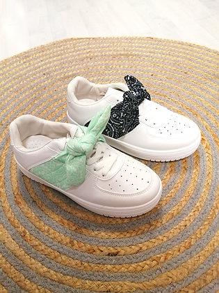 Sneaker bandanas vert ou noir
