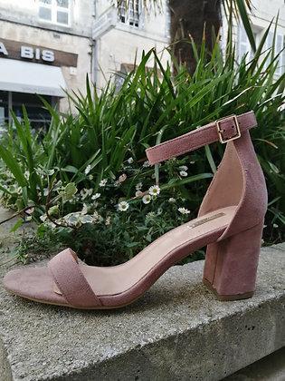 Sandale talon rose