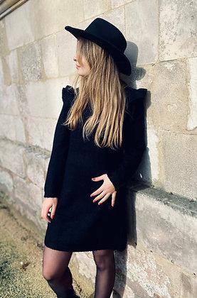 Robe pull col et épaulettes