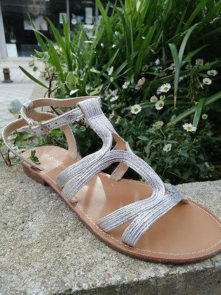 Sandale brides argent