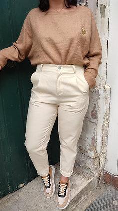 Pantalon à pinces beige