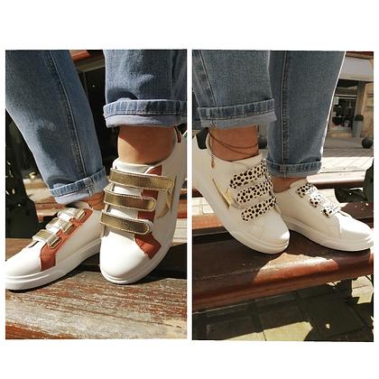 Sneaker scratch leo ou doré