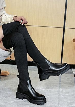 Cuissarde chaussette noire