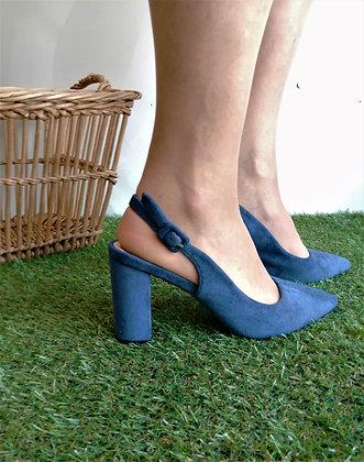 Escarpin bleu