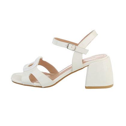 Sandales vernies blanches