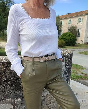T-shirt manche longue blanc
