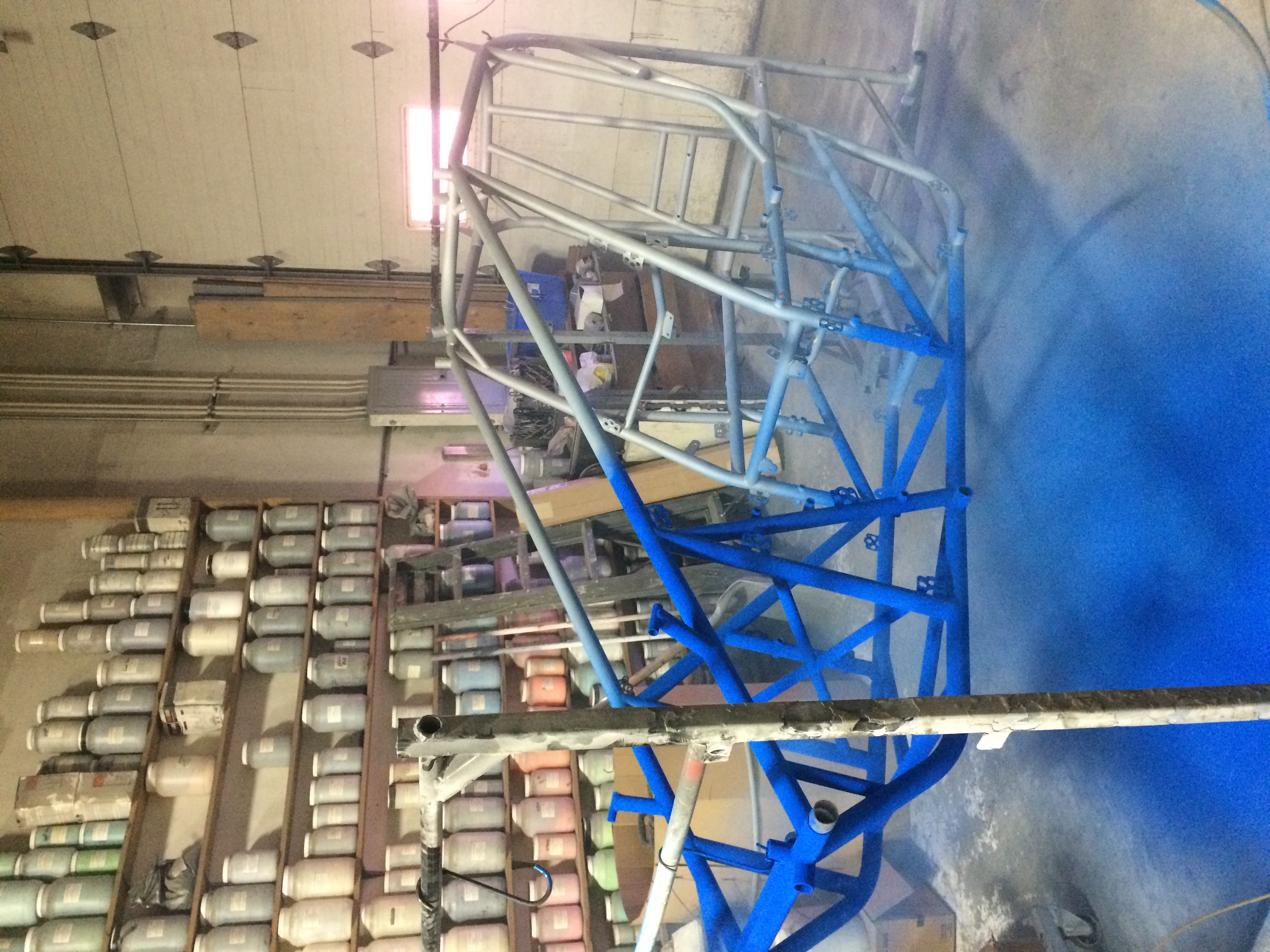 Coating a Sprint Car Frame