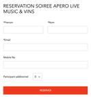 Bonne Nouvelle, vous pouvez maintenant réserver vos soirees Live Music & Apéro en ligne!