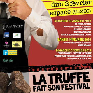 Domaine Vintur will be at Carpentras' 20th Truffle Festival this Sunday