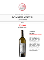 News 2018: 2 of our wines awarded by the Best Sommelier of the World