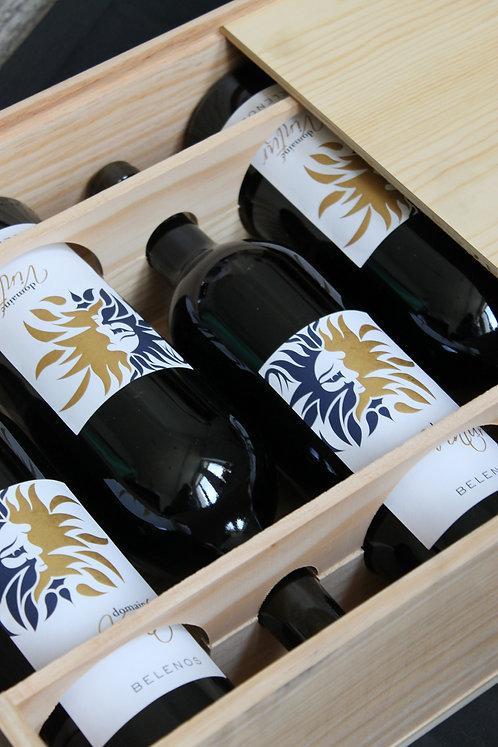 Coffret bois - Vin Rouge Supérieur Belenos