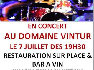 Concert de Breadline au domaine Vintur 7 juillet à partir de 19h30 .