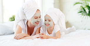 Happy family mother and child daughter m
