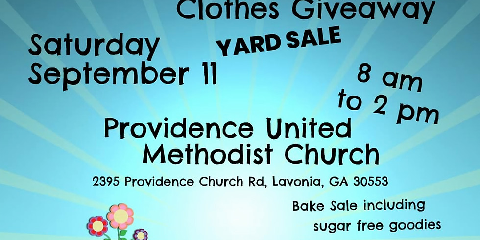 Clothes Giveaway & Yard Sale