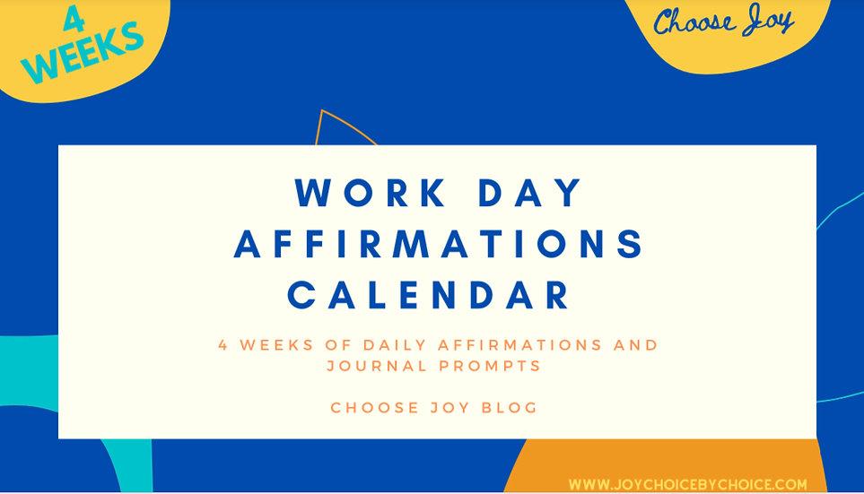 Work Day Affirmations Calendar