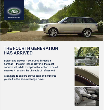 sales emails for Land Rover