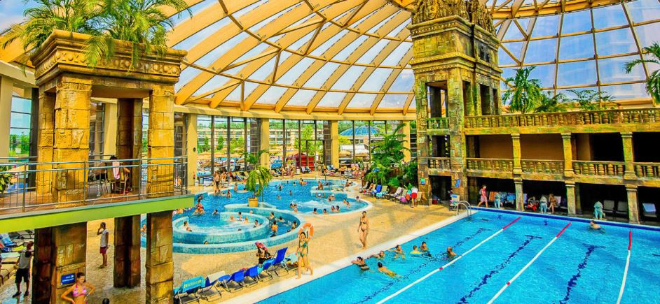 Aquaworld Budapest is one of the largest indoor water theme parks in Europe