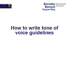 How to write tone of voice guidelines.JP