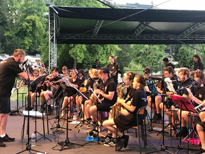 Bexley Grammar School perform at the Bled Lakeside Summer Festival | Gower Music Tours