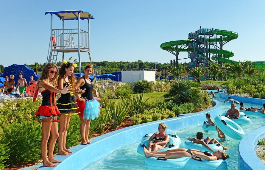 Aquacolours Water Park, near Porec in Croatia