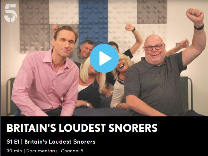 Britain's Loudest Snorers, TV show featured ENT expert Mike Dilkes