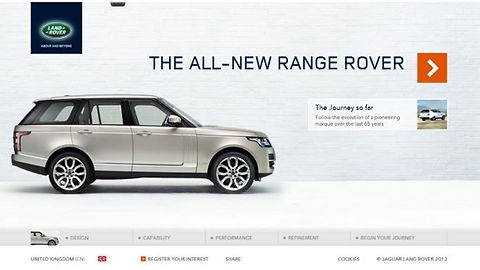 microsite web copy Land Rover