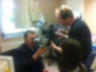 Mike Dilkes performing laser surgery on Channel 4