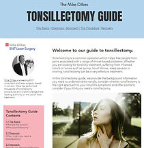 Tonsillectomy Guide by Mike Dilkes ENT.J