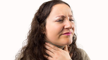 Identifying early signs of tonsillitis