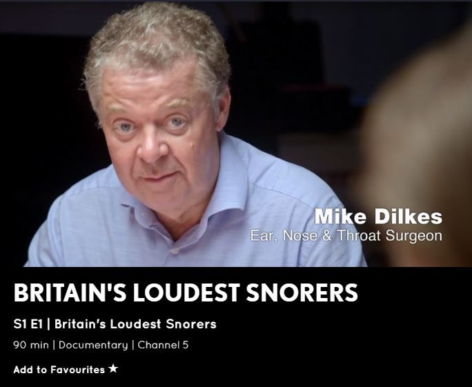 Mike Dilkes, the snoring expert