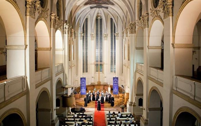 Perform in St Salvator in Prague